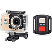 Boyiya New Full HD 1080P WIFI H16R Action Sports Camera Camcorder Waterproof, Cellphone APP Can Control Equipment Video Camera (Khaki)