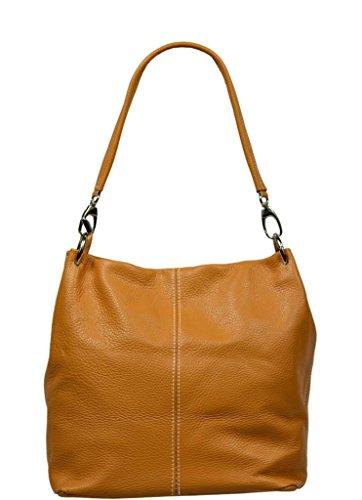 Neue Hand Tasche, Borsa a spalla donna cammello marrone chiaro 1