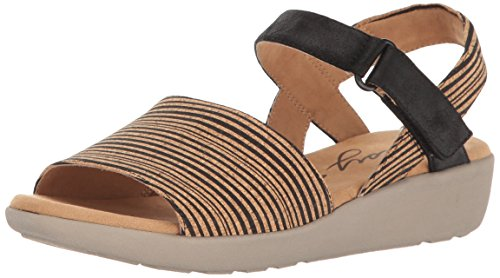 Easy Spirit Womens Kala5 Wedge Sandal Black Multi/Black Ck