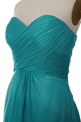 MACloth Women Strapless Cocktail Dress Chiffon Short Wedding Party Formal Gown Morado