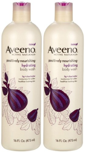 Wash Fig - Aveeno Positively Nourishing Hydrating Body Wash, Fig + Shea Butter, 16 Ounce (Pack of 2)