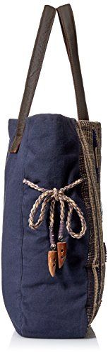 'ale By Alessandra Women's Blue Skies Traditional Hand-loomed Fabric Tote Khaki/blue One Size Ale By Alessandra Womens Accessories