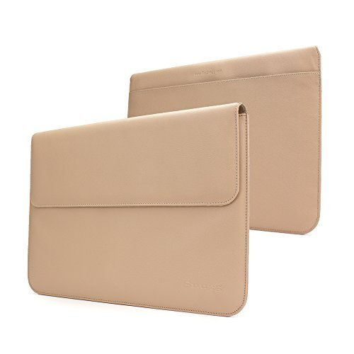 MacBook Pro 15 Sleeve - Snugg - Nude Leather Sleeve Case Protective Cover for MacBook Pro 15