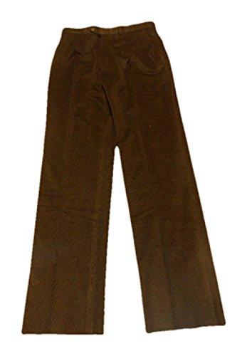 Jack Victor Males's Unhemmed Corduroy Costume Pants, 35R, Black