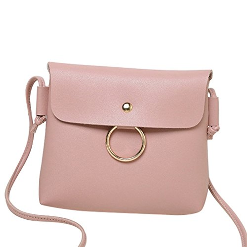 PU Cellphone Bag Leather Wallet Women Purse Crossbody Pink Small For qnwE1Cxn6