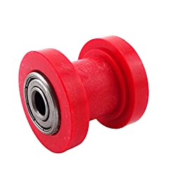 XLJOY 10mm Red Chain Roller Tensioner Wheel Guide Fit Chinese 50cc-160cc Pit Bike Bike