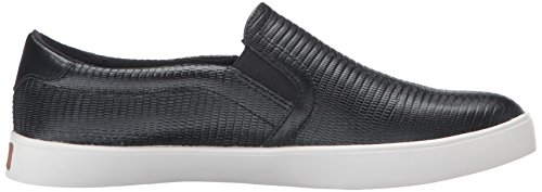 Black Leather Women's Dr Scholl's Reptile MADISON Sneakers wcZS8faq