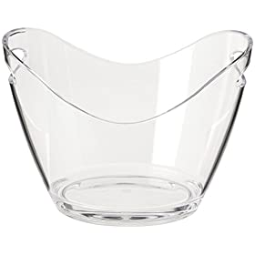 Agog – Ice Bucket Clear Acrylic 3.5 Liter Good for up to 2 Wine or Champagne Bottles Ice Bucket