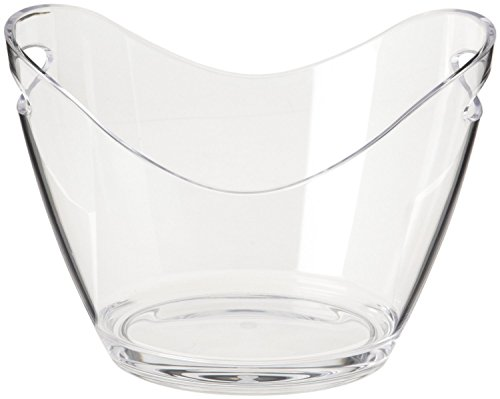 Agog - Ice Bucket Clear Acrylic 3.5 Liter Good for up to 2 Wine or Champagne Bottles Ice Bucket ()