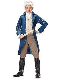 George Washington/Thomas Jefferson/Alexander Hamilton and Colonial Child Costume, X-Large