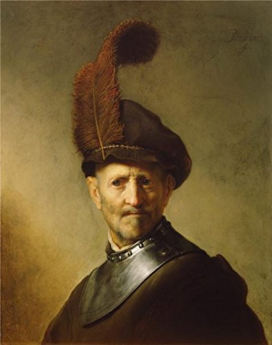 Oil Painting 'An Old Man In Military Costume,about 1630 - 1631 By Rembrandt Harmensz Van Rijn' 16 x 20 inch / 41 x 52 cm , on High Definition HD - Ready One Eyeglasses Hour In