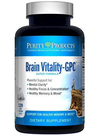 Brain Vitality GPC (Acetyl L Carnitine) Super Formula by Purity Products 120 Capsules