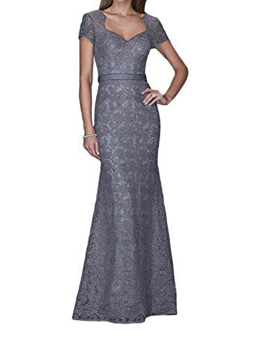 Festlichkleider Brautmutterkleider Spitze Promkleider Trumpet Meerjungfrau Grau Lang Braut Ballkleider Abendkleider La mia fYOwRvqcS