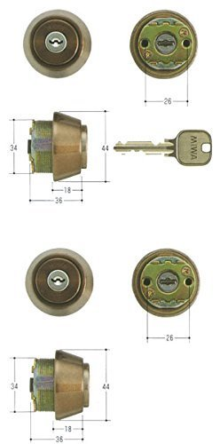 MIWA(美和ロック) U9シリンダー LSPタイプ TE18 MCY-431 2個同一 キー6本付属 鍵 交換 取替え 扉厚40~43mm向け MCY431 LSP SWLSP B01I2GP4T0