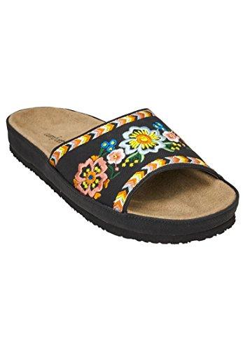 Comfortabele Brede Jody-sandalen Voor Dames Zwart