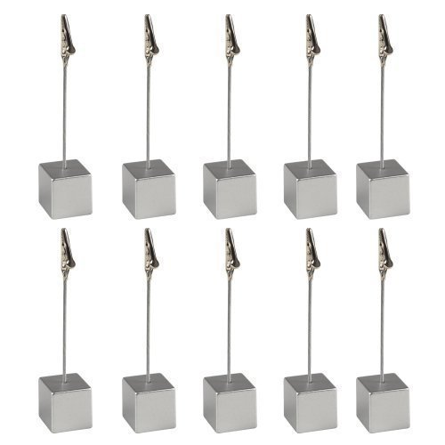 eBuyGB Sitzkartenhalter, 10 Stück Solid Silver