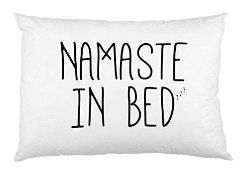 """One Bella Casa Namaste in Bed Pillowcase by OBC, Standard 20""""x 30"""", Black from One Bella Casa"""