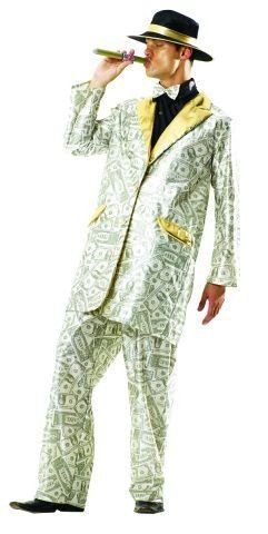 Foxxeo 10229 | Millionaire Millionaires Pimp Costume Costume Mask Prolet Pimps Carbon Money Money Green Size  sc 1 st  Amazon UK : pimps costume  - Germanpascual.Com