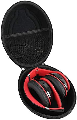Hetmitshell Hard EVA Travel Case Fits Mpow 059 Bluetooth Headphones Over Ear Hi-Fi Stereo Wireless Headset Foldable Soft Memory-Protein Earmuffs Black