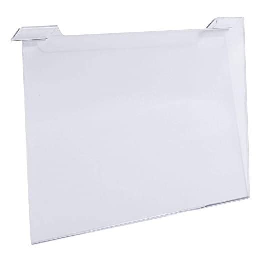 Clear 11 Width x 7 Height Econoco Commercial Slatwall//Gridwall Acrylic Horizontal Pack of 24
