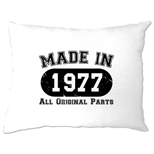 Made in 1977 All Original Parts (Distressed Design) 40th Birthday fortieth [2017 Edition] Pillow Case Cool Funny Gift Present Home Bedroom Bed
