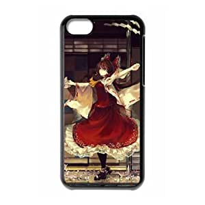 Reimu Hakurei Touhou Project Anime iPhone 5c Cell Phone Case Black yyfabc-511692