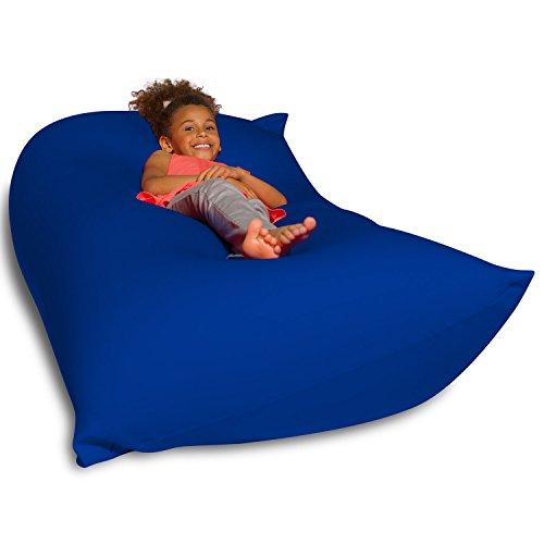 Big Squishy Portable And Stylish Bean Bag Chair Medium Blue
