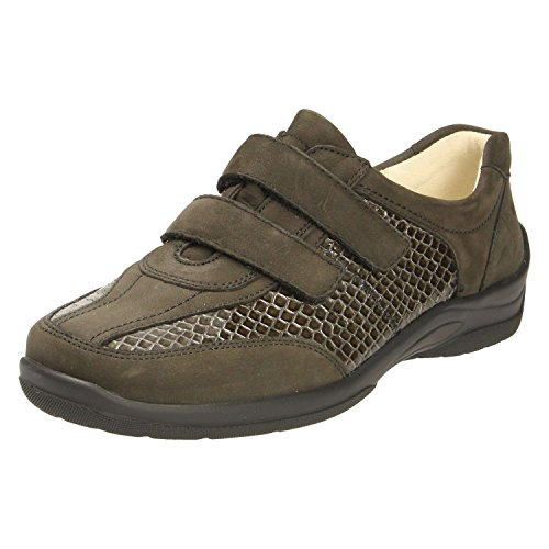 Women's Grey Lace Waldläufer Flats up z6UUnTF