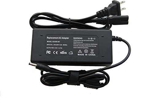 NEW AC Adapter Power Supply Charger+Cord for HP Pavilion DV2000 DV2100 XB3000 dv2200 dv6200 dv6400 dv6500 dv6700 dv8000 dv9000 dv9100 dv9400 dv9500 (Hp Pavilion Dv6700 Power Supply)