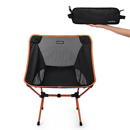 Sunyear Lightweight and Foldable Camp Chair, Portable, Breathable and comfortable , Perfect for Hiking/Fishing/the Park/Sport - Fishing Chair