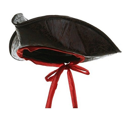 Child Sized Carribean Pirate Costume Tri-Corner Distressed Brown Hat