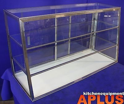 Carib Countertop Dry Bakery Display Case 36'' Tapered Glass Showcase w/ Shelf 5T