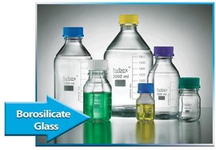 - Benchmark Scientific Hybex B3000-1000 Borosilicate Glass Graduated Media Storage Bottle with Polypropylene Blue Cap, 1000ml Capacity (Pack of 10)