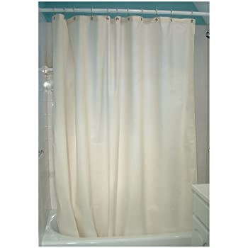 Charmant Bean Products Natural Cotton Shower Curtain 7 Oz. Duck Fabric   Made In USA  70