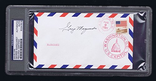 George-Marquardt-signed-autograph-Cover-Crew-Necessary-Evil-WWII-PSA-Slabbed