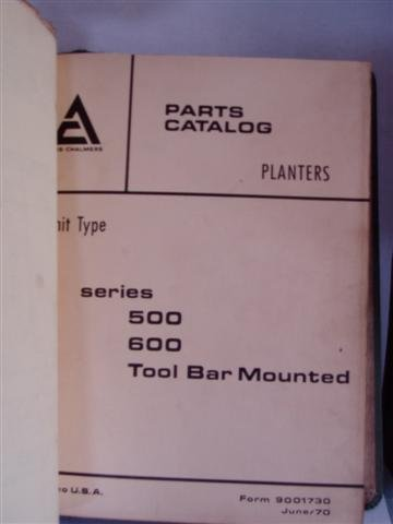 Toolbar Parts Catalog - 1