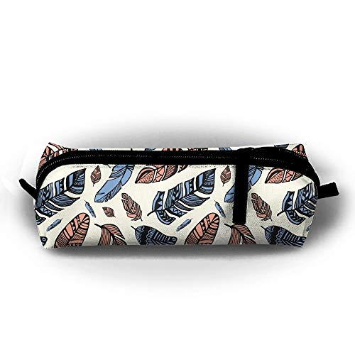 (Jliming Pencil Bag Pen Case Feather Art Cosmetic Pouch Students Stationery Bag Zipper Organizer)