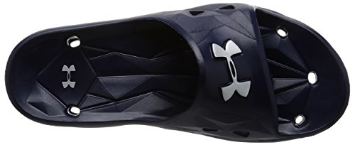 Under Armour Herren Locker III Slide Midnight Navy / Metallic Silber