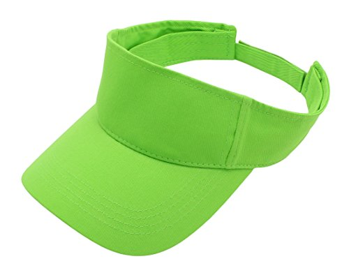 Top Level Sun Sports Visor Men Women - 100% Cotton One Size Cap Hat, ()