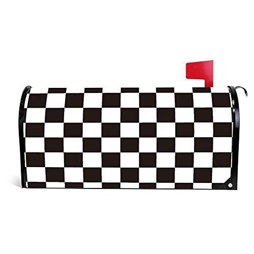 - FabricMCC Mailbox Cover Black and White Checkerboard 21
