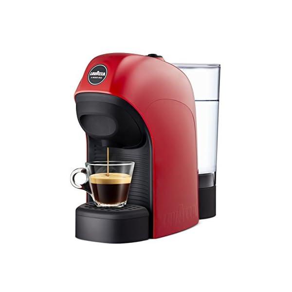 1450 W 0.75 Litri Lavazza a Modo Mio Tiny Macchina caffè Rosso