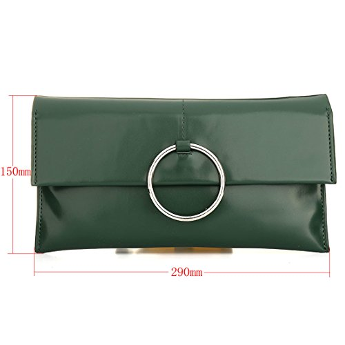 HT Ladies Crossbody Bag Evening Handbags - Bolso cruzados para mujer Verde