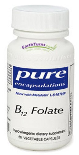 B12 folate (60 Caps) par Pure Encapsulations
