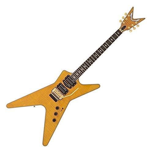 (Dean ML SB F TAM Solid-Body Electric Guitar, Trans Amber )