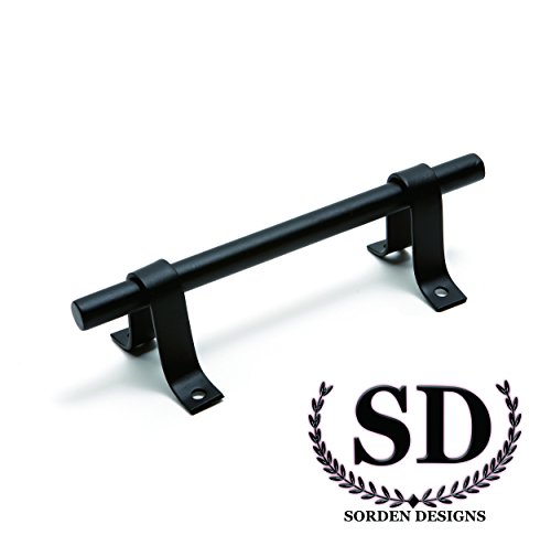 7-3/4''- Artisan Style Barn Door Handle - Matte Black Steel- Door Handles/ Door Pulls for Barn Door Hardware by Sorden Designs