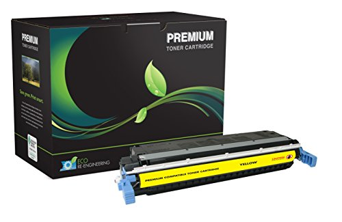 Inksters Remanufactured Toner Cartridge Replacement for HP 5500 Yellow Toner, C9732A (HP 654A) / 6827A004AA