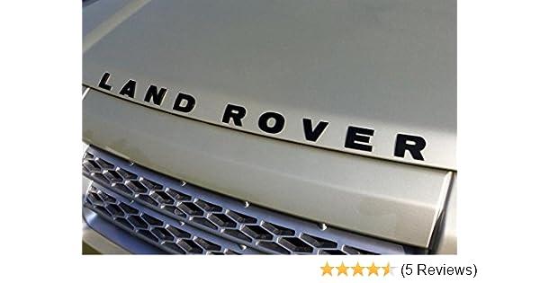 Defender 90 Land Rover V8 Name Decal Tape Gray Raised Lettering Set Genuine