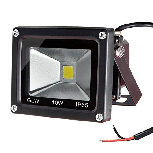 GLW 10w 12v Ac or Dc Warm White Led Flood Light Waterproof Outdoor Lights 750lm 80w Halogen Bulb Equivalent Black Case Review