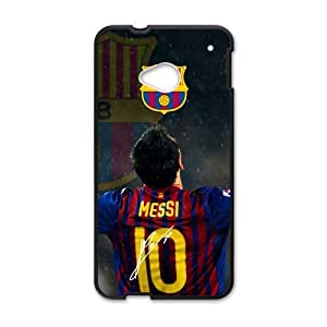 FC Barcelona Lionel Messi HTC One M7 Cell Phone Cases Cover Popular Gifts(Laster Technology)