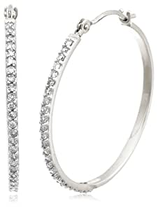 14k White Gold Diamond Hoop Earrings (1/4 cttw, LM Color, I2-I3 Clarity)